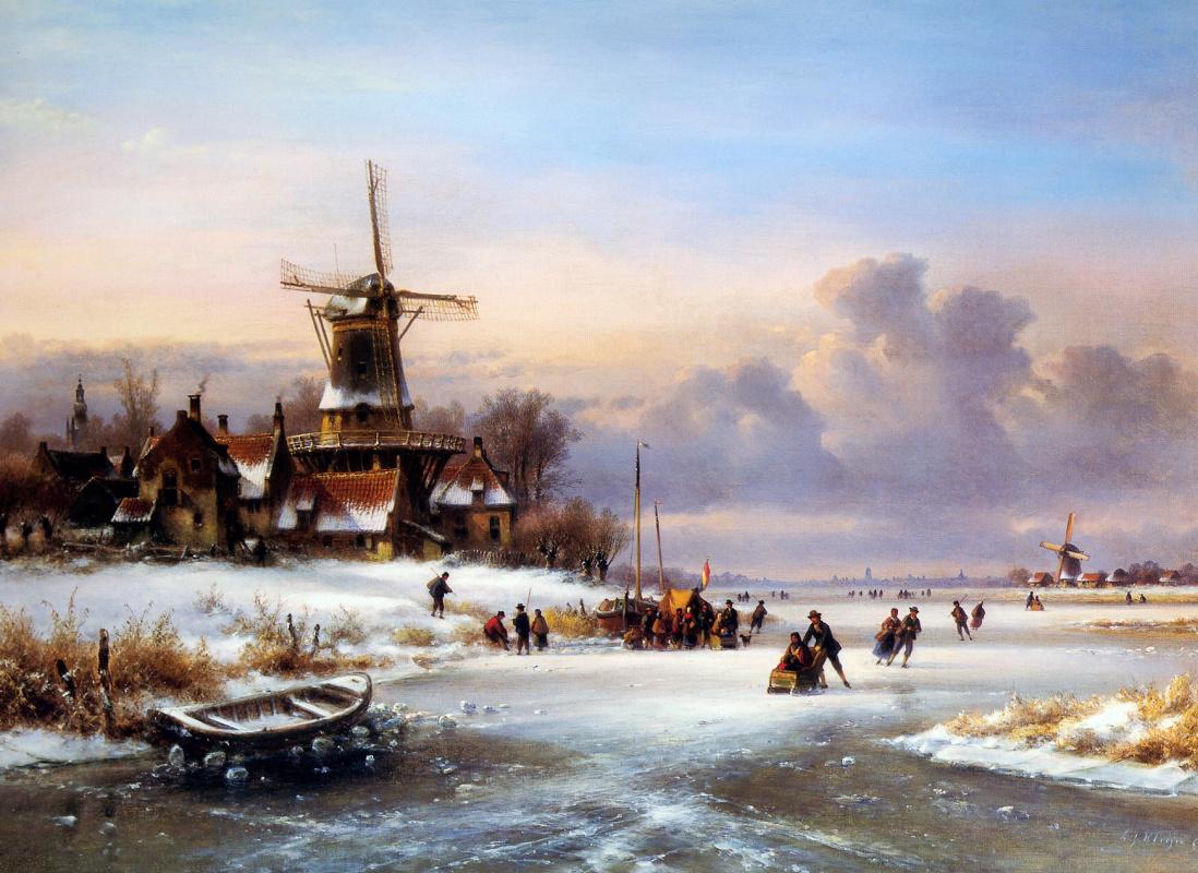 Lodewick Johannes Klein. Winter landscape