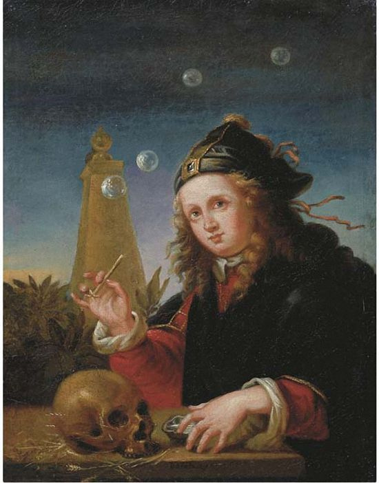 Follower of Reinier de la Haye. The boy and soap bubbles