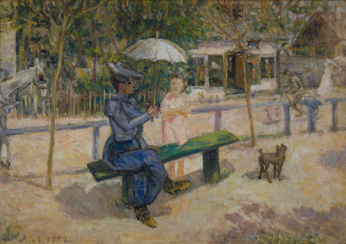Mikhail Larionov. Woman on the bench