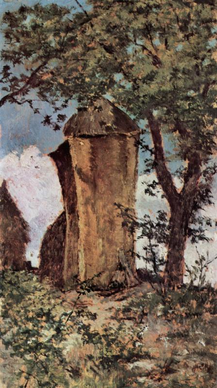 Giovanni Fattori. A haystack