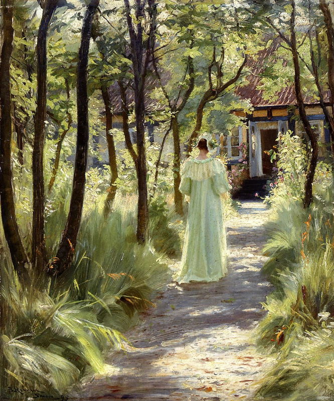 Peder Severin Kreyer. Marie in the garden