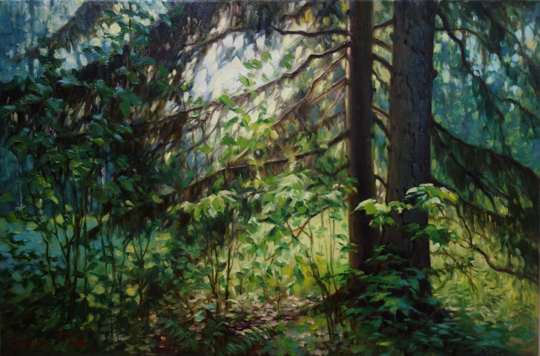 George Kharchenko. Under the tree