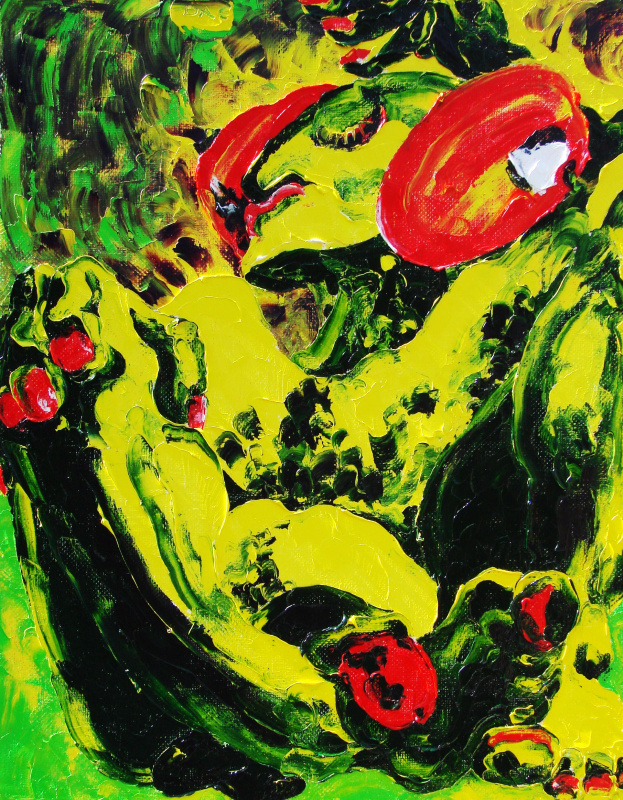 Кандинский-ДАЕ. Sublimatik. Birth sublimatisma. Oil on canvas, 70-55, 2005. (Expressive sublimatism )
