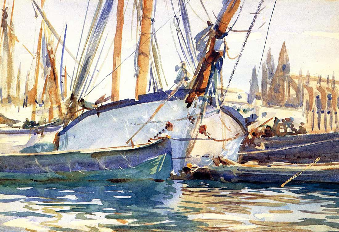 John Singer Sargent. Shipping, Majorca