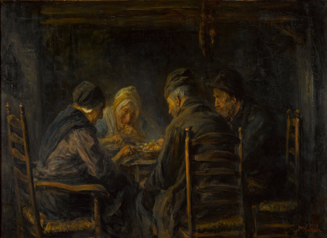 Joseph Israel. Potato Eaters