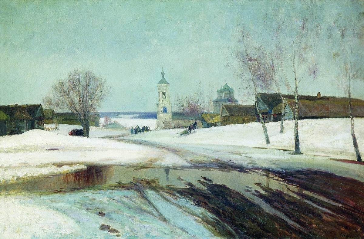 Мануил Христофорович Аладжалов Россия 1862 - 1934. Весна в деревне.