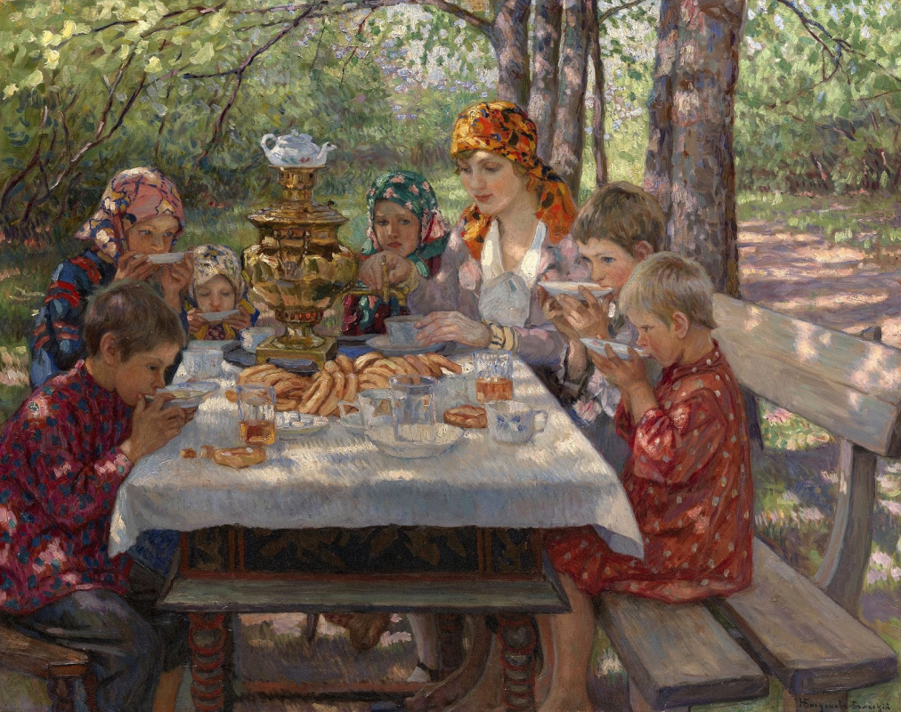 Nikolay Petrovich Bogdanov-Belsky. Guests teachers