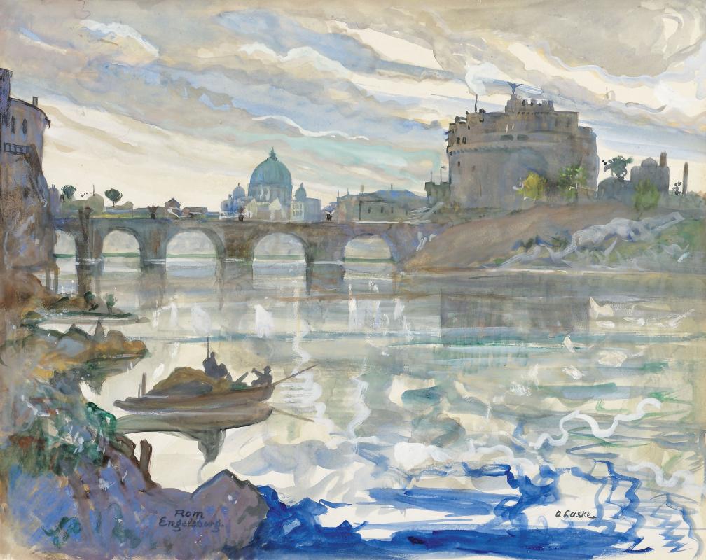 Oscar Laske. Castel Sant'angelo in Rome