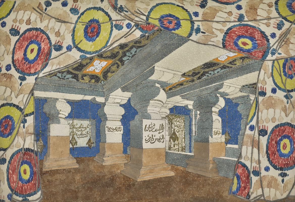 """Lev Samoilovich Bakst (Leon Bakst). A sketch of the scenery for the ballet """"Aladdin and the magic lamp"""""""