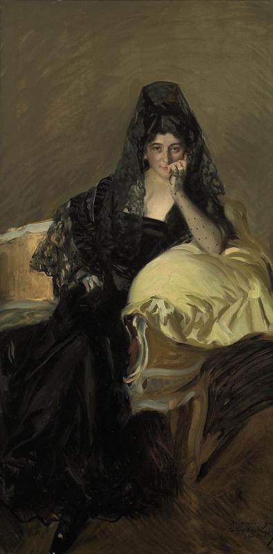 Хоакин Соролья (Соройя). Портрет сеньоры де Урколы в чёрной мантилье