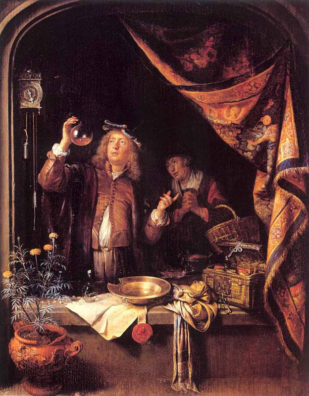 Gerrit (Gerard) Dow. The doctor checks the urine