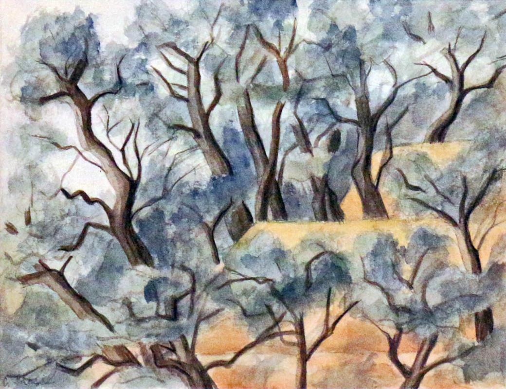 Alexandra Nikolaevna Pregel (Avksentyeva). Trees and roofs