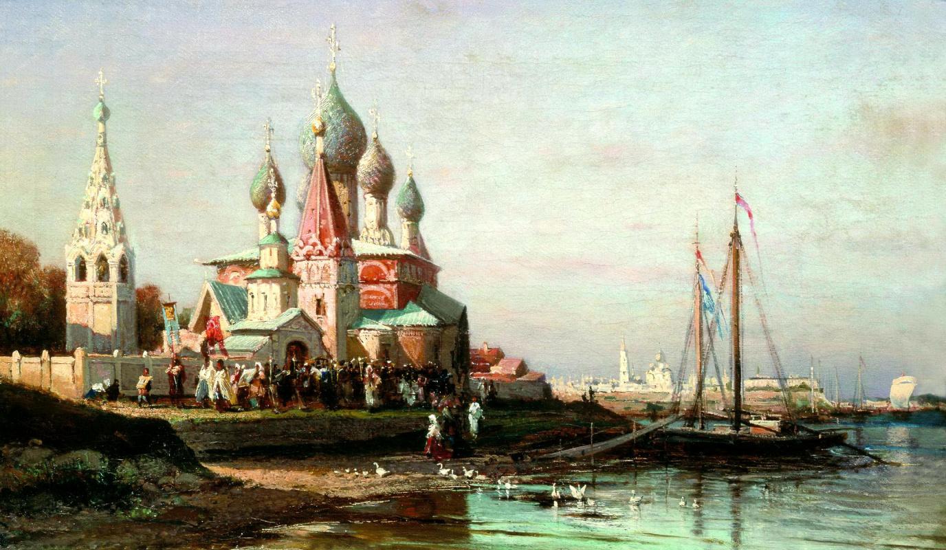Алексей Петрович Боголюбов. Крестный ход в Ярославле
