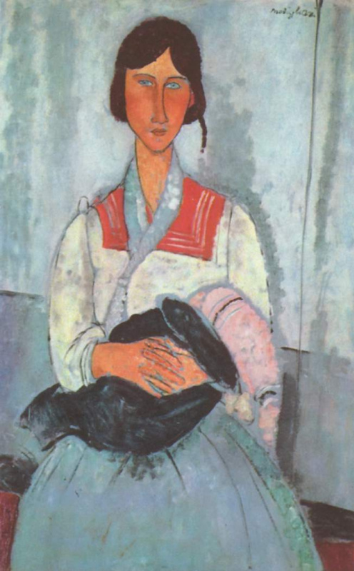 Амедео Модильяни. Цыганка с ребенком