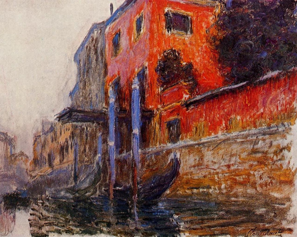 Claude Monet. Red house