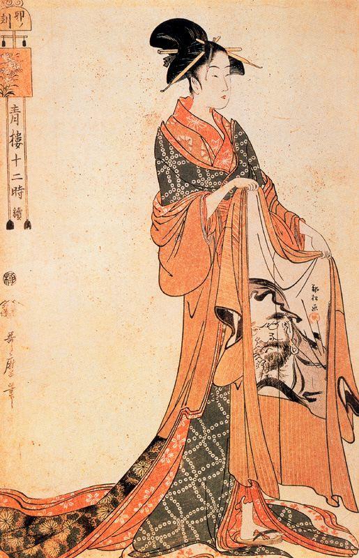 Kitagawa Utamaro. The Hour Of The Horse