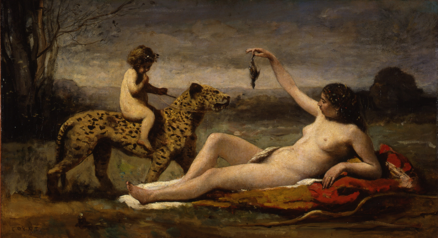 Camille Corot. Bacchante with a Panther