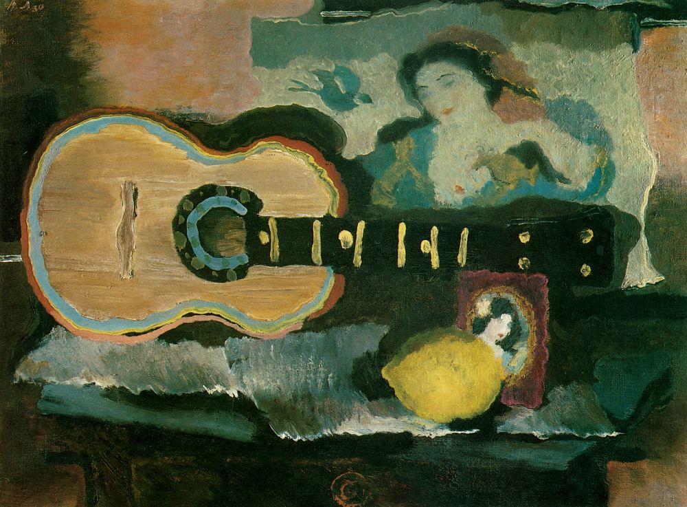 Владимир Васильевич Лебедев. Натюрморт с гитарой