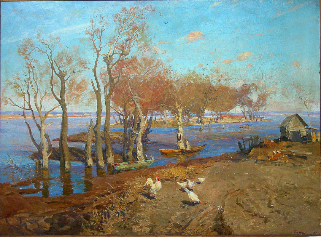 """Gennady Honored Artist of Russia Sorogin. """"Spill on the Oka"""""""