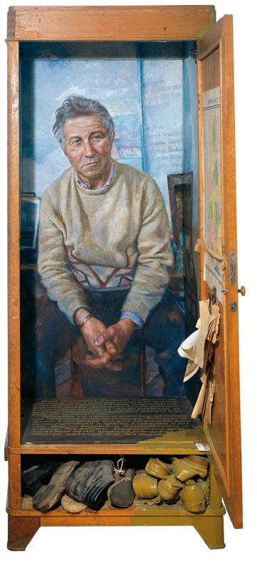Игорь Глебович Макаревич. Шкаф Ильи (Портрет Кабакова). Правая часть трехчастной композиции