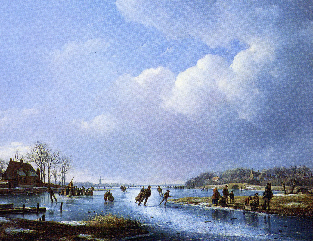 Andreas Schelfout. On the ice