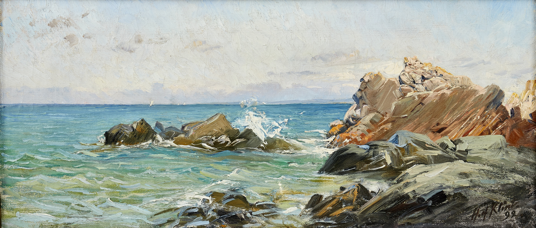 Хильма аф Клинт. Coastal landscape