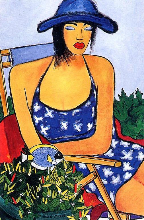 Элен Лессард. Девушка в синей шляпе