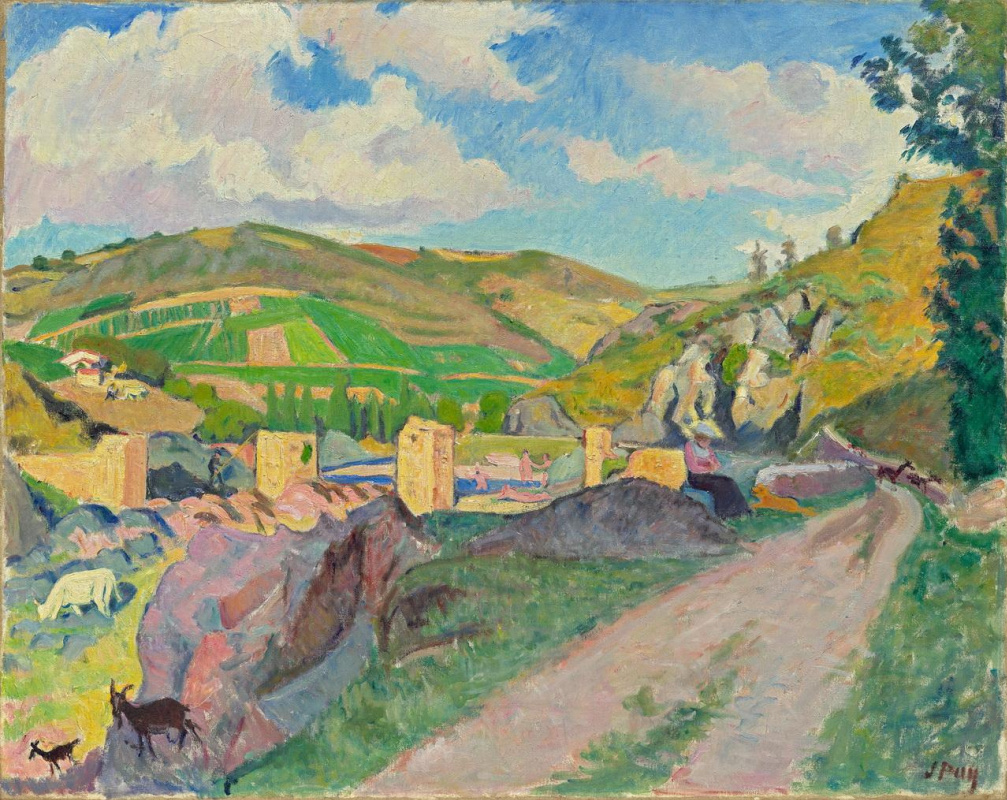 Jean Puy. Ruins of the Roman Bridge in Saint Maurice