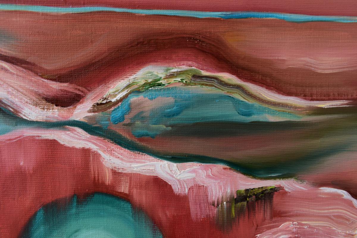 EMERALD EVENING - original oil painting