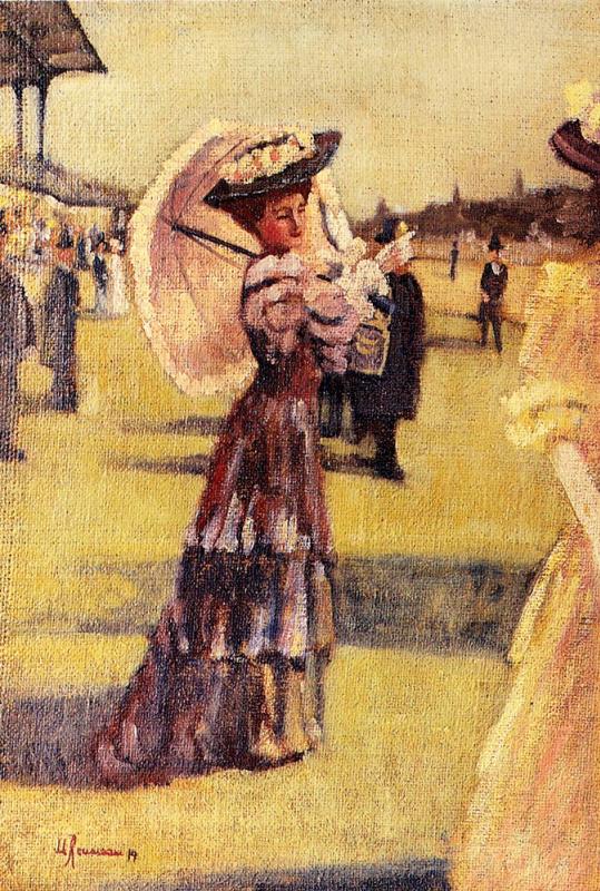Маргарита Руссо. Обаятельная женщина с белым зонтом