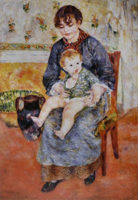 Пьер Огюст Ренуар. Молодая мать