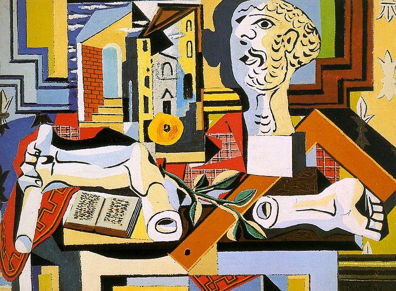 Pablo Picasso. Studio with plaster head