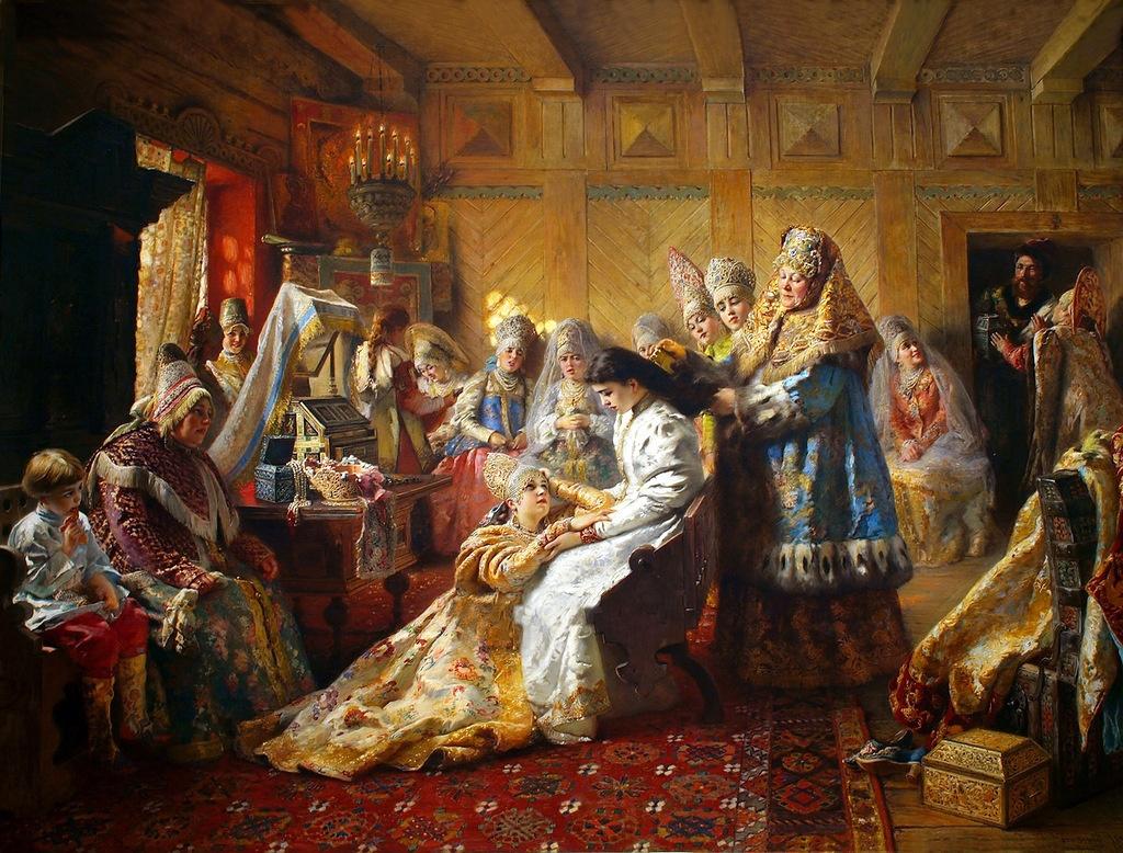 Константин Егорович Маковский. Под венец