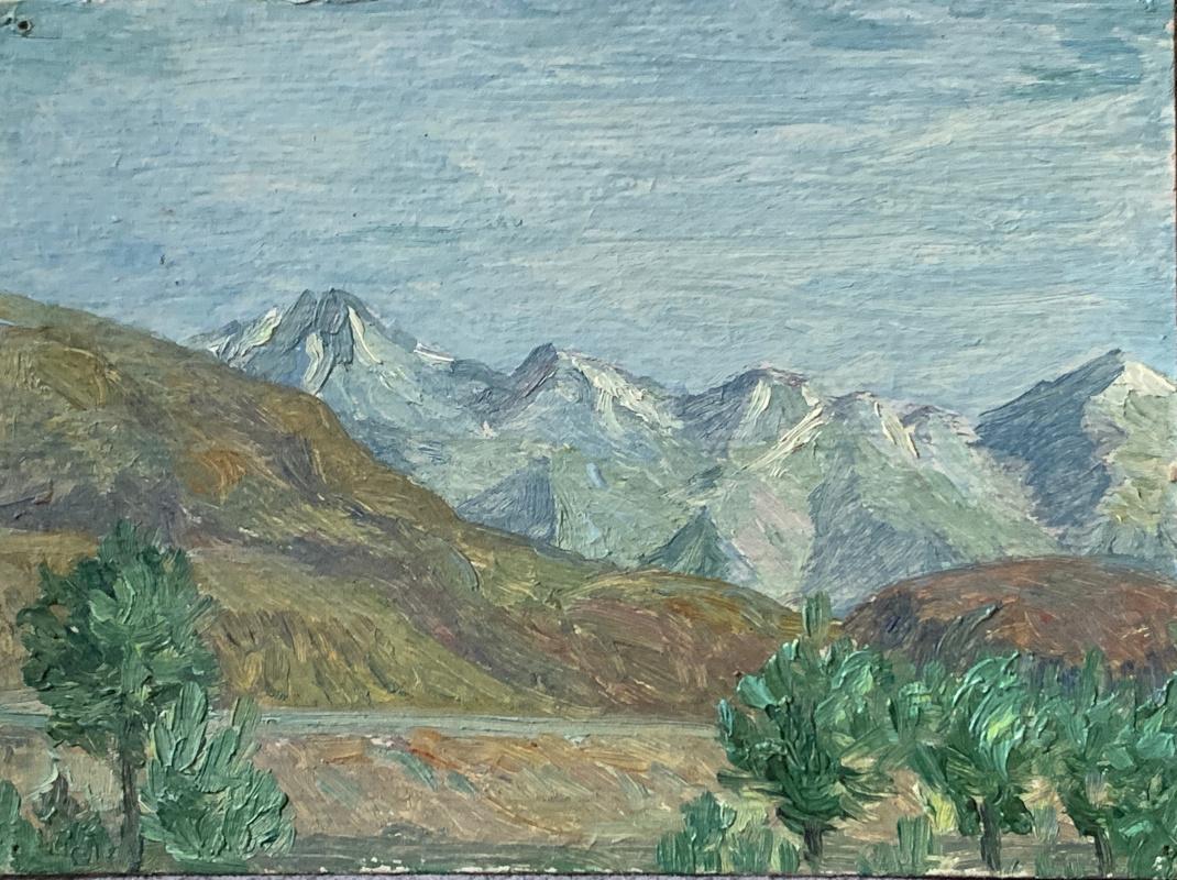 Oleg Alekseevich Dmitriev. Mountains in the snow