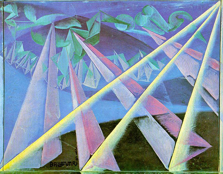 Giacomo Balla. Rays
