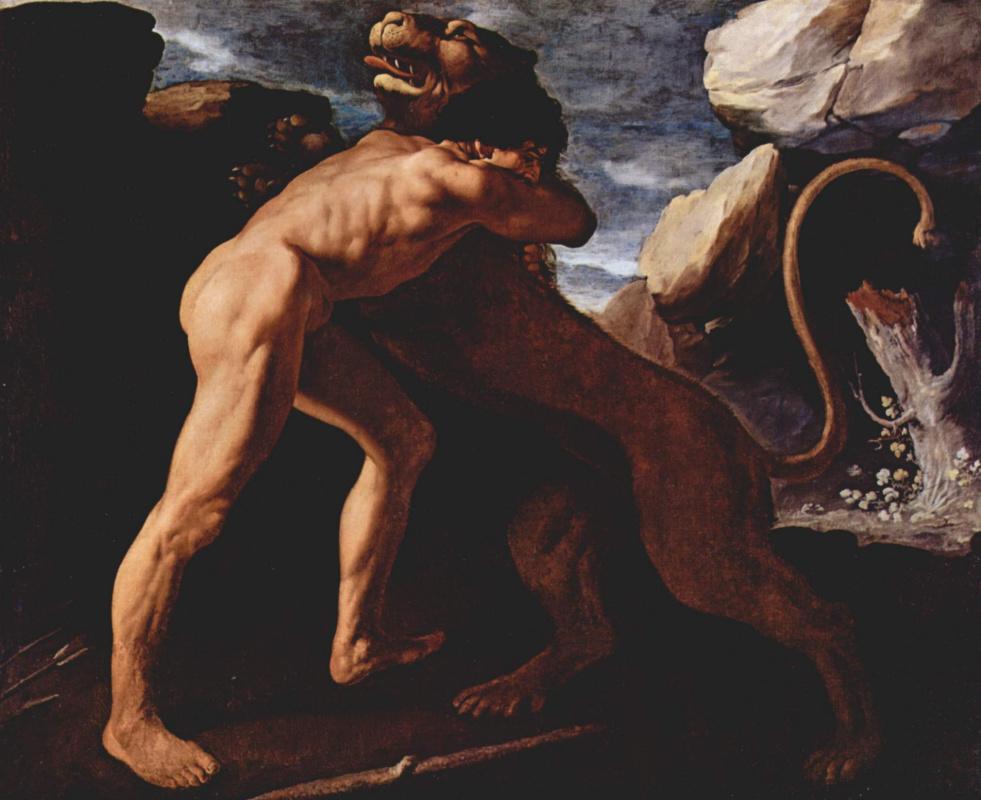 Франсиско де Сурбаран. Геракл убивает Немейского льва