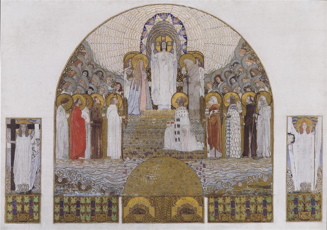 Koloman Moser. Am Steinhof Church,  Mosaic design for the main altar