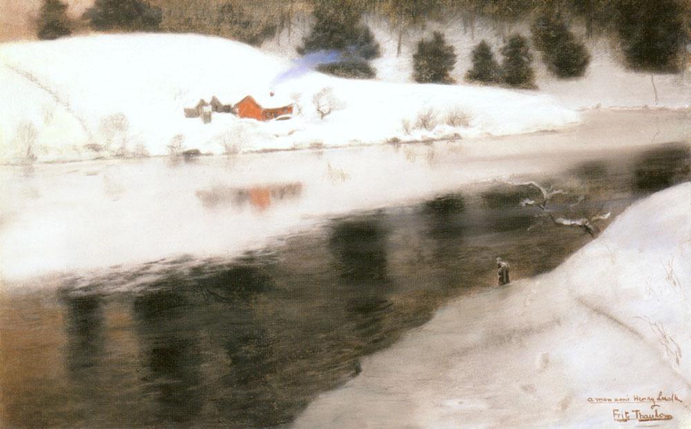Frits Thaulow. Winter river