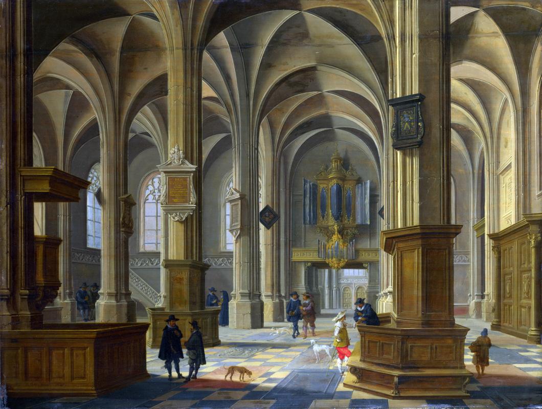 внутри католические церкви в картинах художников находится трех