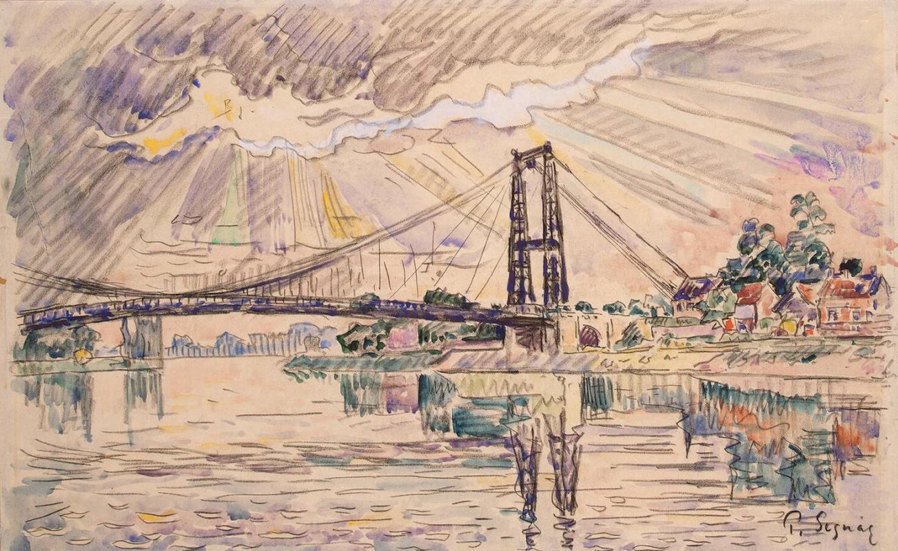Поль Синьяк. Подвесной мост в Андели