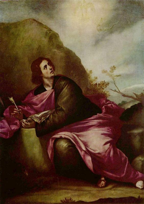 Алонсо Кано. Св. Иоанн Евангелист на острове Патмос