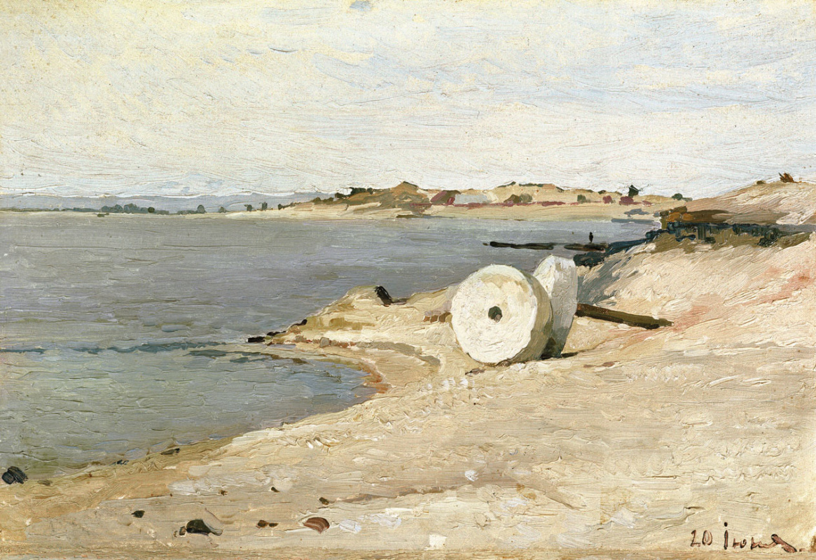 Nikolay Grigorievich Burachk. Millstone on the shore