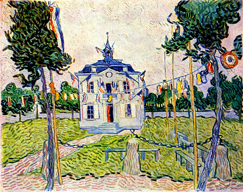 Винсент Ван Гог. Ратуша в Овере 14 июля 1890