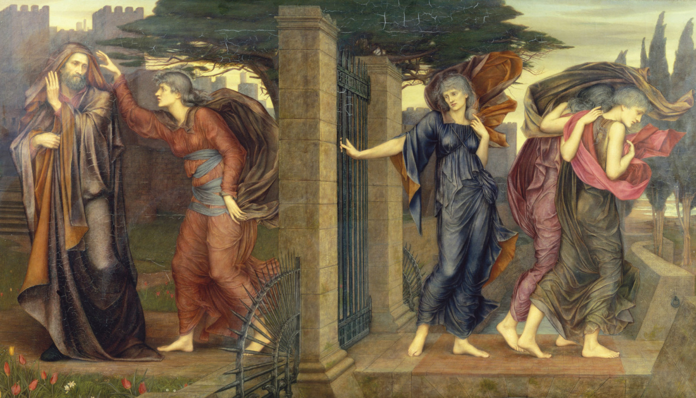 Evelyn De Morgan (Pickering). Gray Sisters: Care, Thirst, Debt and Need