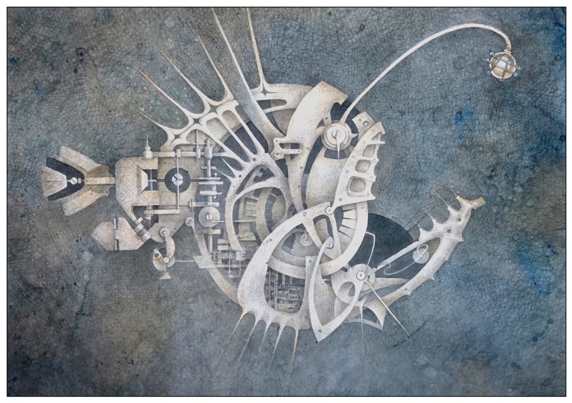 "Natalia Andreevna Korotaeva. Anglerfish, a series of ""mechanical aquarium"""