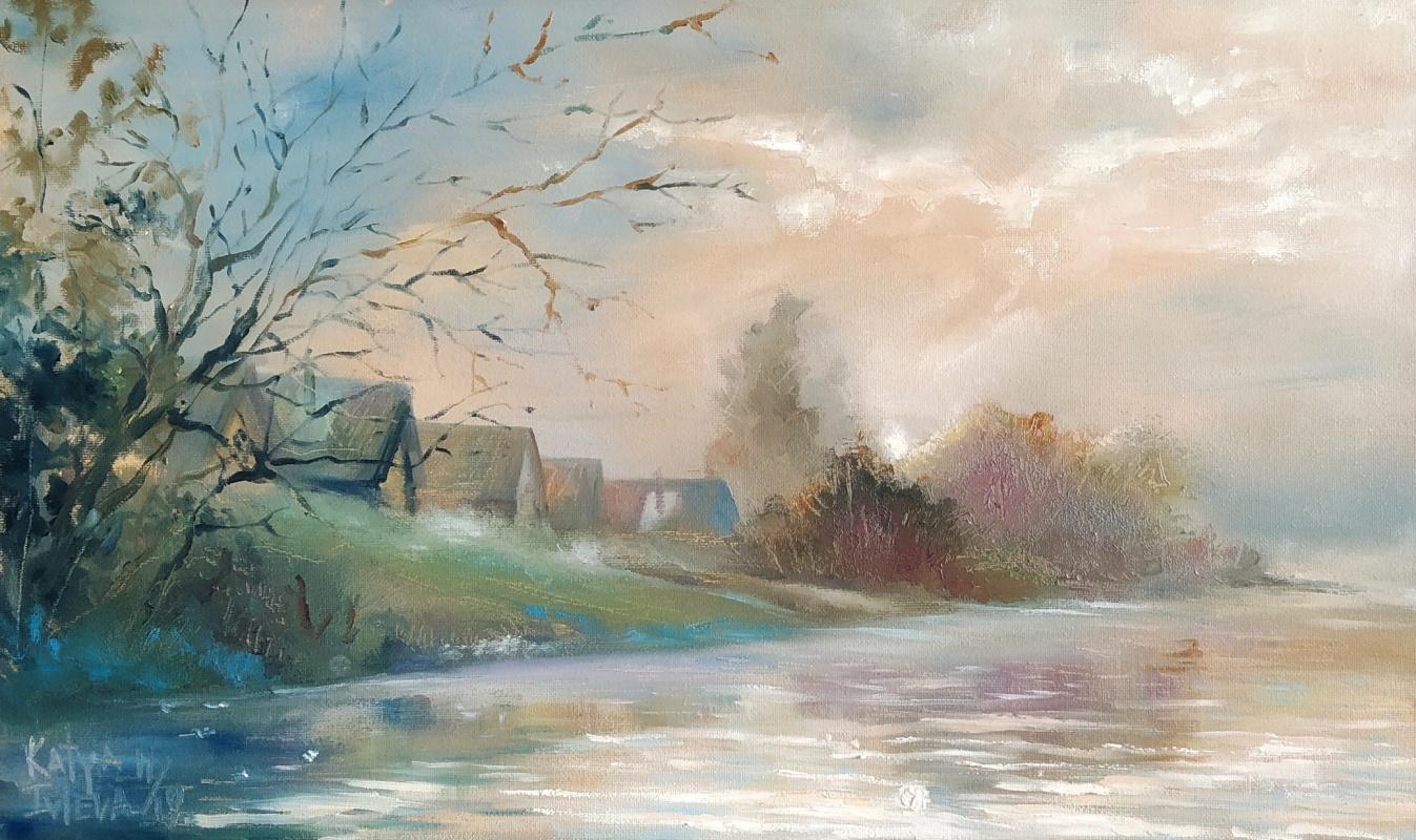 Екатерина Владиславовна Ивлева. Evening landscape in the village