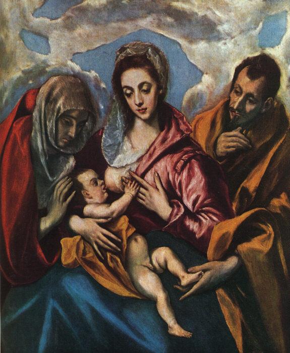 Эль Греко (Доменико Теотокопули). Святое семейство