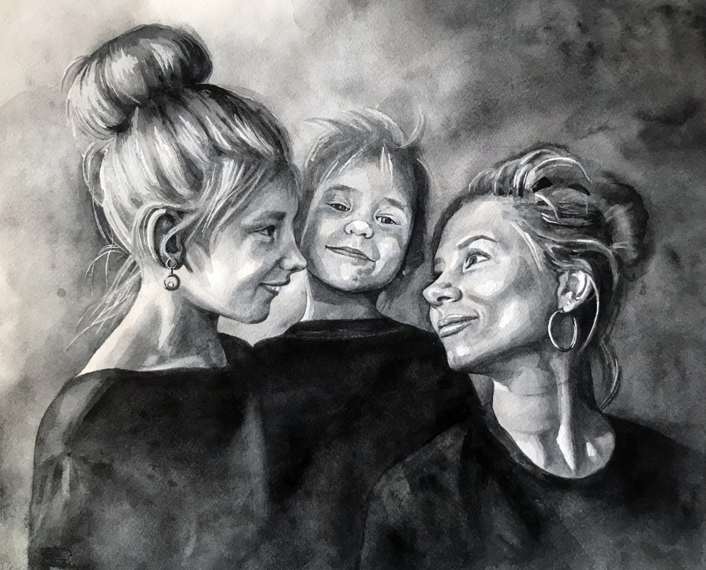 Inessa Gennadievna Nefedova. Mama