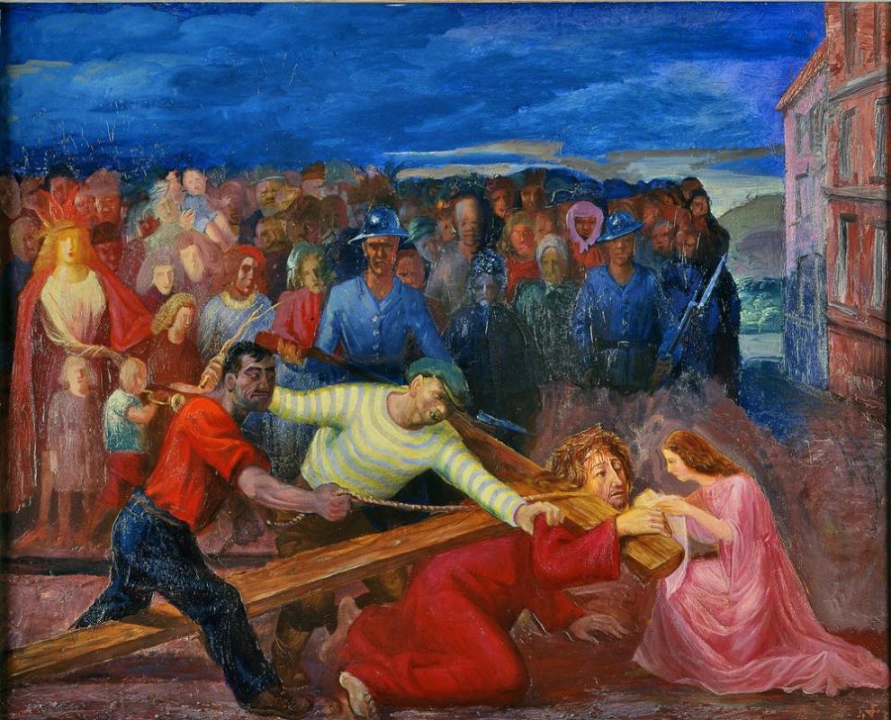Otto Dix. Christ and Veronica