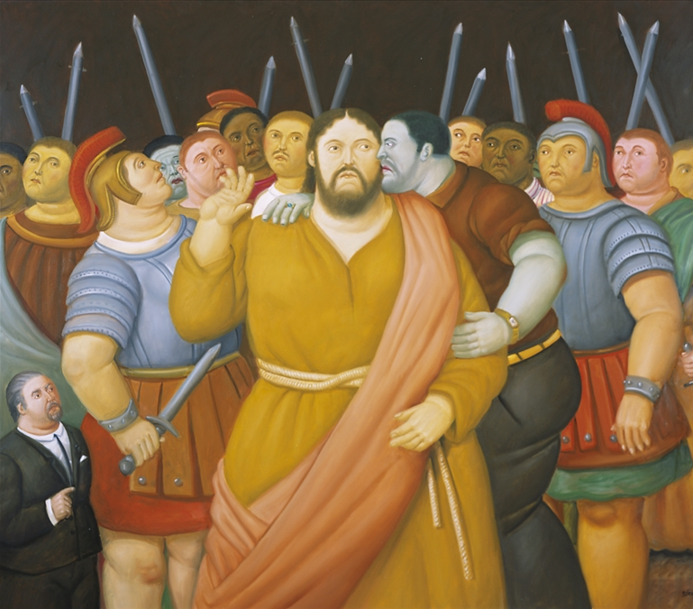 Fernando Botero. Kiss of Judah